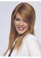 Straight Long Layered Cut Human Hair Full Lace Wig
