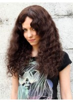 Long Timeless Curly Human Hair Capless Wig