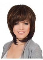 Sophisticated Medium Length Human Hair Wig