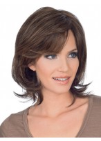 Natural Straight Mid-Length Lace Front Human Hair Wig