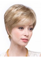 Short Textured Human Hair Capless Wig