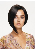 Chin Length Human Hair Bob Style Lace Front Wig