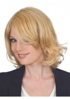 Medium Length Human Hair Lace Wig
