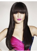 Extra Long Straight Human Hair Wig