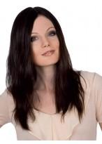 Long Centre Parting Lace Front Remy Hair Wig