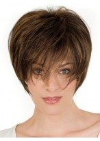 Feminine Short Crop Lace Front Remy Hair Wig