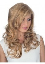 Side Parting Front Lace Curly Remy Hair Wig