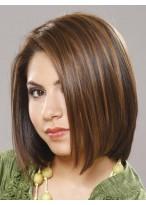 Smooth Soft Medium Straight Human Hair Wig