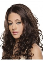 Pretty Lace Front Long Curly Human Hair Wig
