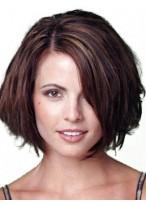 Casual Short Straight Human Hair Wig