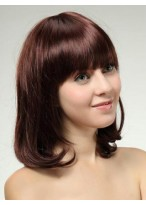 Elegante Medium Straight Human Hair Wig