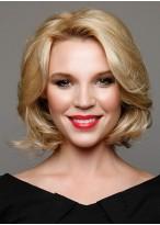 Medium Length Wavy Luxury Human Hair Wig For Women