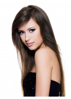 Fashionable Style Long Straight Lace Front Human Hair Wig