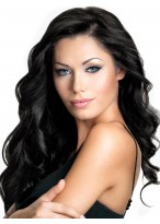 Long Capless Wavy Human Hair Wig