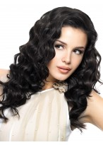 Full Lace Wavy Human Hair Long Hot Style Wig