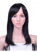 Human Hair Straight Lace Front Long Wig