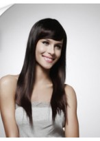 Long Capless Straight Remy Human Hair Wig