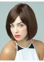 Gorgeous Short Full Lace Straight Human Hiar Wig