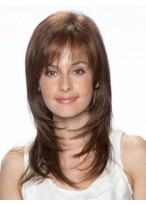 Long Layered Capless Straight Human Hair Wig