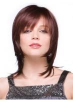 Women's Short Straight Human Hair Capless Wig