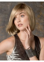 Women's Short Lace Front Straight Human Hair Wig