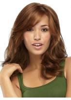 Women's Long Capless Wavy Human Hair Wig