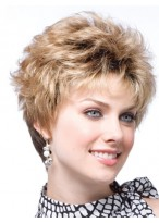 Women's Short Capless Wavy Human Hair Wig