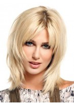 Fabulous Women's Medium Full Lace Human Hair Wig