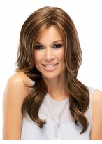 Long Wavy Side Parting Remy Human Hair Wig
