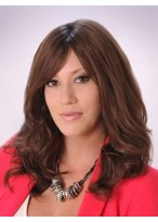 Layered Around Face With Shoulder Length Human Hair Wig