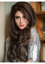 Best Beautiful Smooth Long Loose Wavy 100% Human Hair Wig
