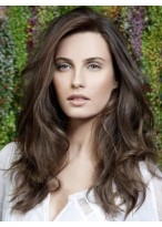 Elegant Custom Best Top Quality Professional Long Casual Wavy Human Hair Wig