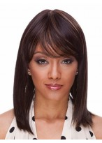 Should Length Full Bang Human Hair Straight Wig