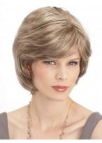 Short Layered Style With Face Framing Bangs Human Hair Wig