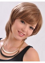 Short All Over Layers Style Pure 100% Human Hair Wig