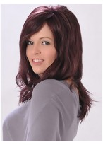 Long Layers Style With a Scalloped Front Human Hair Wig
