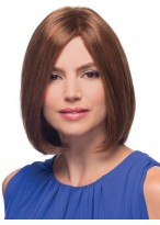 Medium Length Bob Human Hair Full Lace Mono Wig