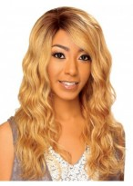 100% Remy Human Hair Long Wavy Lace Front Wig
