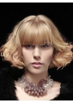 Lace Front Human Hair Popular Lob Mid-length Straight Side Swept