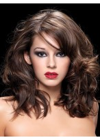 Shaggy Medium Curly Remy Human Hair With Mono Part