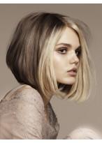Medium Length Charming Women Full Lace Monofilament Wig