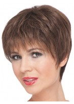 Fit Exquisite Short Remy Human Hair Capless Wig