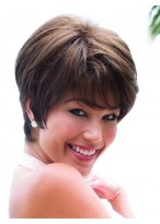 Short Modern Capless Remy Human Hair Wig