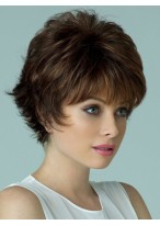 Stand Short Capless Remy Human Hair Wig