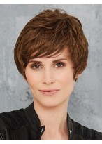 100% Remy Human Hair Capless Short Wig