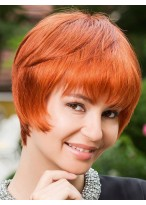 Fashion Cosplay Remy Human Hair Capless Short Wig