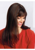 Long Straight Capless Wig With Side Bangs