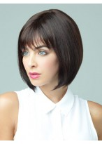 Bob Style Capless Short Wig with Bangs