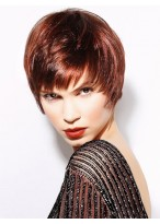 Attractive Remy Human Hair Capless Short Wig