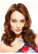 Medium Length Curly Heat Resistant Capless Wig